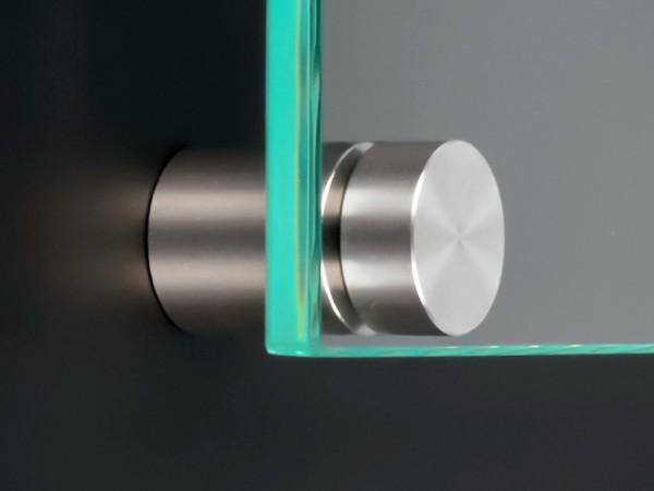 Schildbefestigung Edelstahl V2A Ø 18x15mm Schildhalter PS: variabel