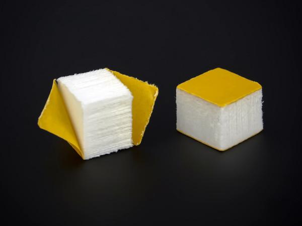 Schaumstoff-Wandpuffer beidseitig selbstklebend | weiß 15x15x12 mm