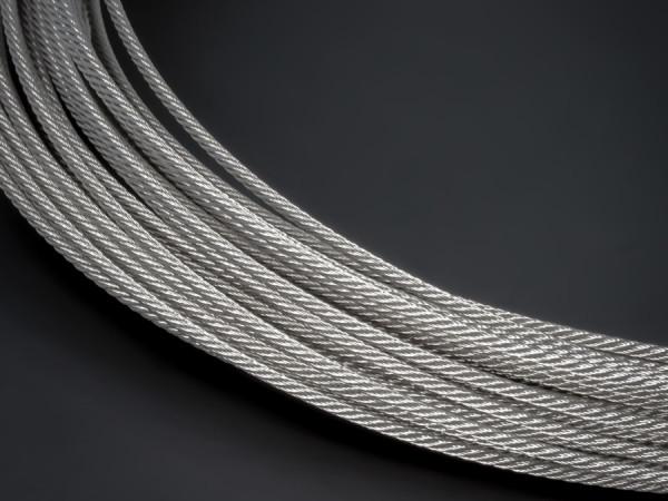 Edelstahlseil V4A 7x7 Ø: 1,5 mm | Deckenabhänger | Länge: 0,5 m