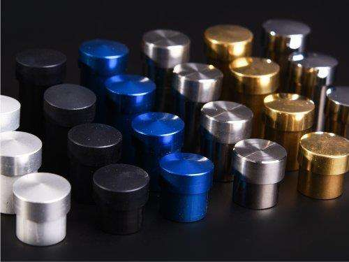 Schraubbar Glashalter Aluminium Schild Befestigung 19 x 25 mm in Blau