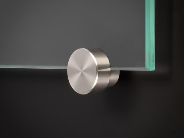 Spiegelhalter-Klemmhalter Edelstahl V2A Zierkappe Ø: 15 mm PS: 4-6 mm