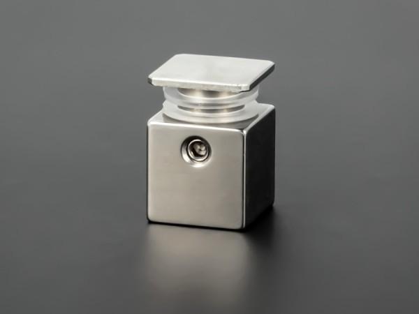 Wandabstandshalter 4-eckig Edelstahl V2A 15x15mm WA: 15mm PS: 4-11mm