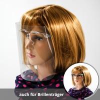 Spuckschutz Gesichts-Visier Antibeschlag mit Brille aus Kunststoff
