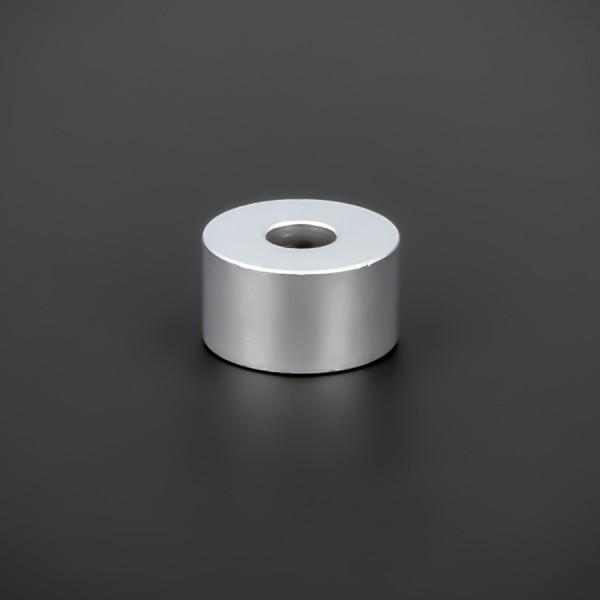 Distanzröhrchen M6 Messing matt Ø 18mm WA: 10mm L-Ø: 6,5mm | Silber