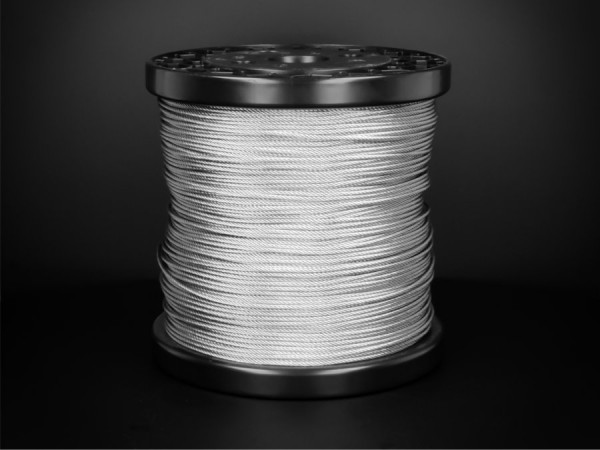 Edelstahlseil V4A 7x7 Seilstärke: 1,5 mm | Länge: 250 m Spule