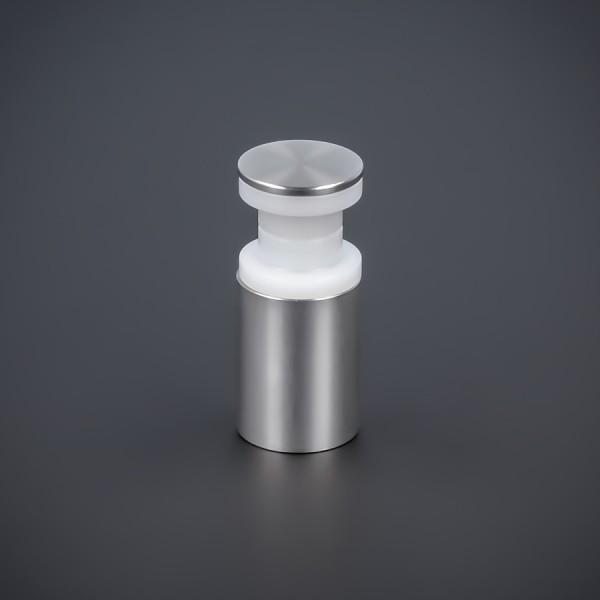 Edelstahlhalter schraubbar Ø 15mm WA 20mm PS: 8-12 mm oder 2 x 4-6 mm