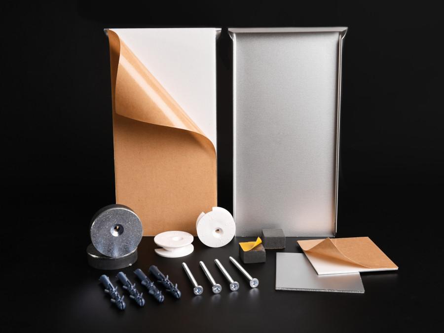 ab 7 59 euro magnet spiegelhalter set kaufen magnet spiegelmontage set bis 1 6 qm o 24 kg. Black Bedroom Furniture Sets. Home Design Ideas