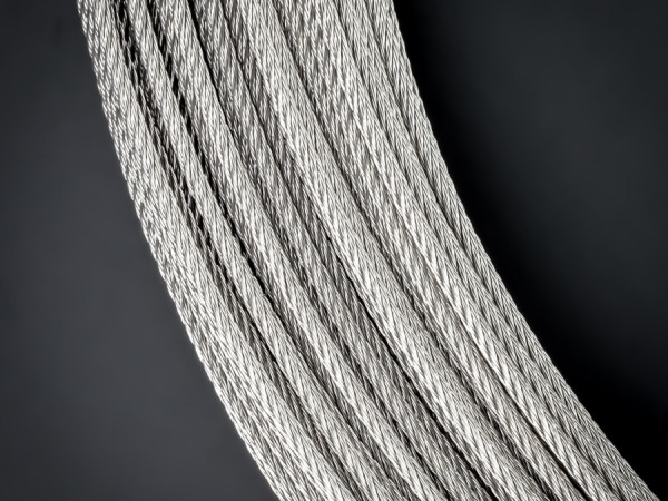 Edelstahlseil V4A Starke:2 mm | 7x7 halbweich | Deckenseil | Länge 3 m