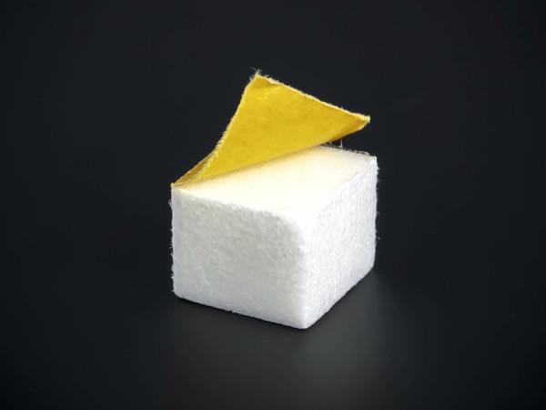 Schutzpuffer Schaumstoff selbstklebend Wandpuffer weiß Ø 15x15 WA:12mm