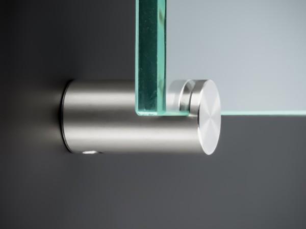 Spiegelhalter Edelstahl V2A Ø: 15mm Länge: 28mm WA: 20mm | Glasklemme