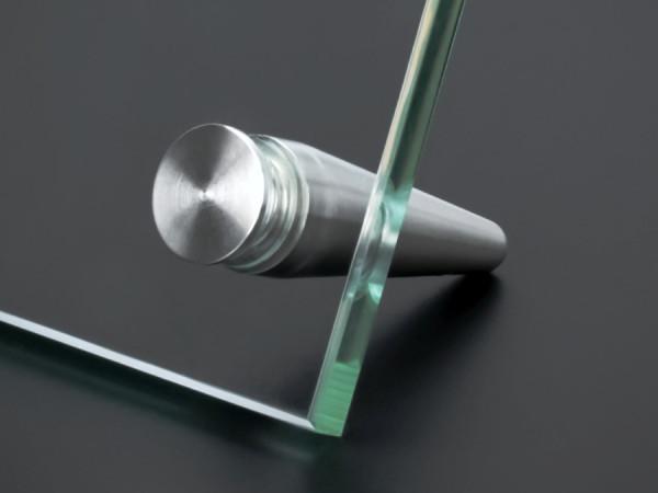Tischaufsteller Platten mit Bohrung Edelstahl Ø 15 mm PS: 3-13 mm