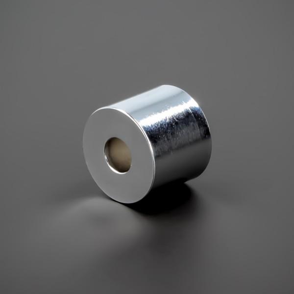 Distanzrohr M6 Messing verchromt Ø 18 mm WA: 15 mm L-Ø: 6,5 mm | Chrom