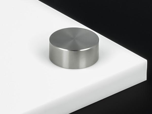 Schraubenkopfabdeckung Edelstahl inkl. Gewindehülse flach Ø18 mm | V2A