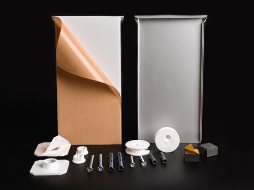 Spiegelaufhängung-Set bis 1,6qm o. 24 kg | Schilder | Blech 200x100 mm