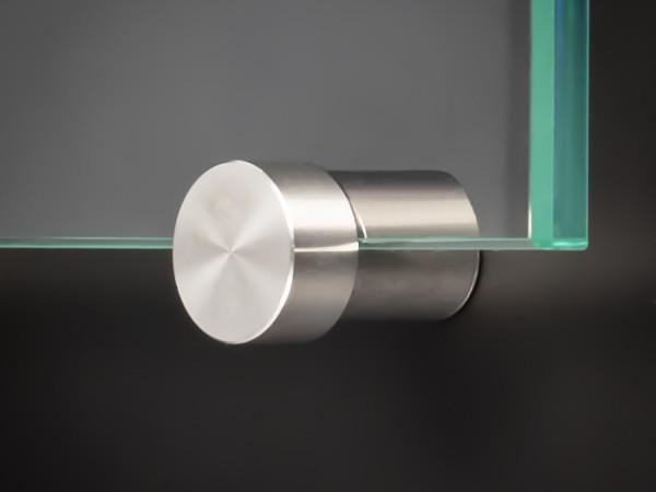 Spiegelhalter-Klemmbefestigung Edelstahl Ø:15mm WA: 10mm PS: 2,5 - 6mm