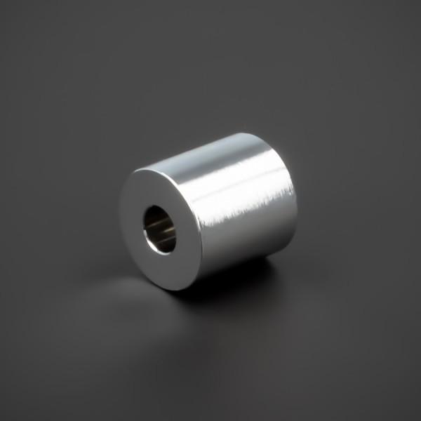 Distanz-Hülse M5 Messing verchromt glänzend Ø15x15mm L-Ø:5,2mm Chrom
