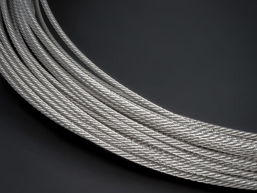 4,0 mm 7X7 Drahtseil Edelstahl A4 Rostfrei Stahldraht-Seil Stahlseil Nirosta V4A