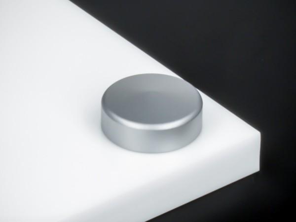 Schraubenabdeckung V2A inkl. Gewindehülse angeschrägt Ø 18 mm   Silber