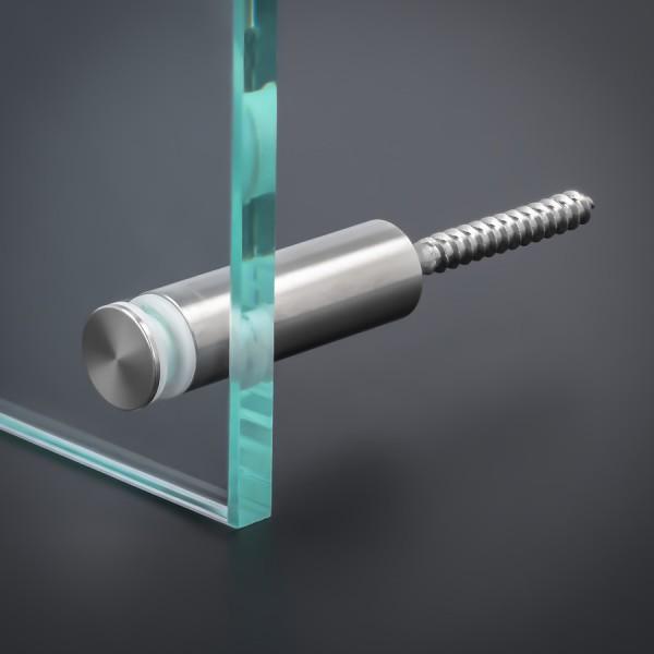 Glasbefestigung V2A Ø15x40 mm PS: 4-16 mm o. 2x 2-8 mm | Stockschraube