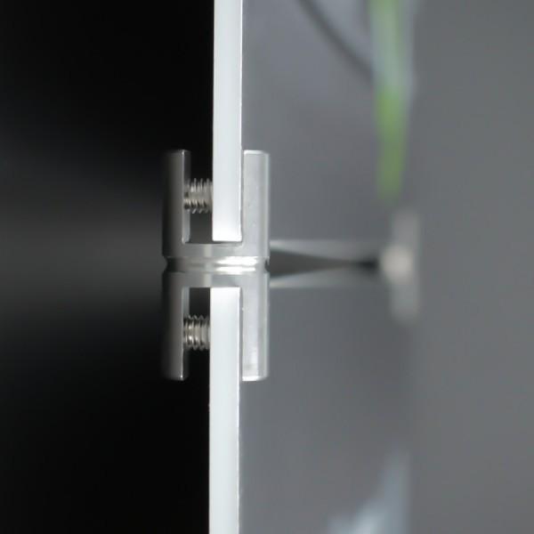 Plattenverbinder Edelstahl Plattenklemme Schilder Ø 11 mm PS: 2-6 mm